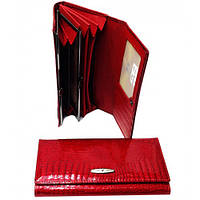 Ж кошельки натуральная кожа Tailian(красный лак)19*10см , фото 1