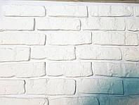 """Декоративный камень """"средневековый кирпич"""" белый"""