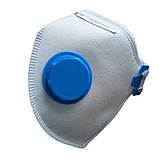 Респіратор Спектр 1К FFP1D з клапаном Аналог Росток 3 ПК від 10 штук, фото 4