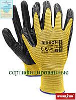 Рабочие перчатки REIS покрытые нитрилом RIBBON YB