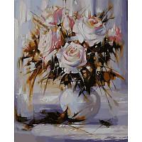 """Белые розы"" Картина по номерам 40Х50см"