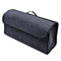 Складной ящик с петлей на липучке для хранения нструмент для багажника автомобиля Серый