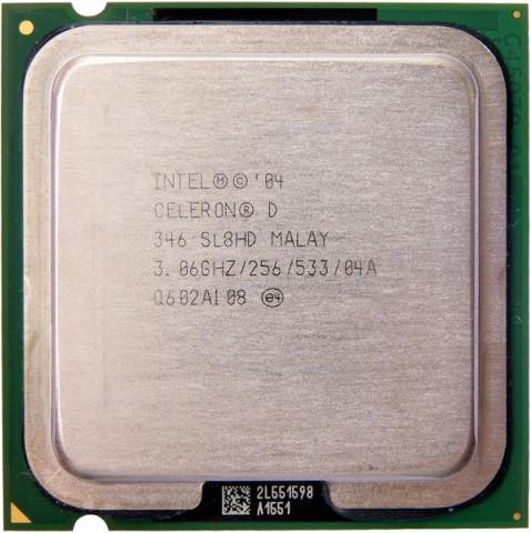 Процессор Intel Celeron D 346, 3.06 GHZ/256/533