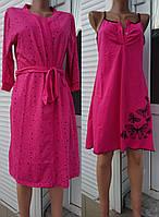 Комплект для кормящих и беременных женщин халат и сорочка 44-54 р Бабочки