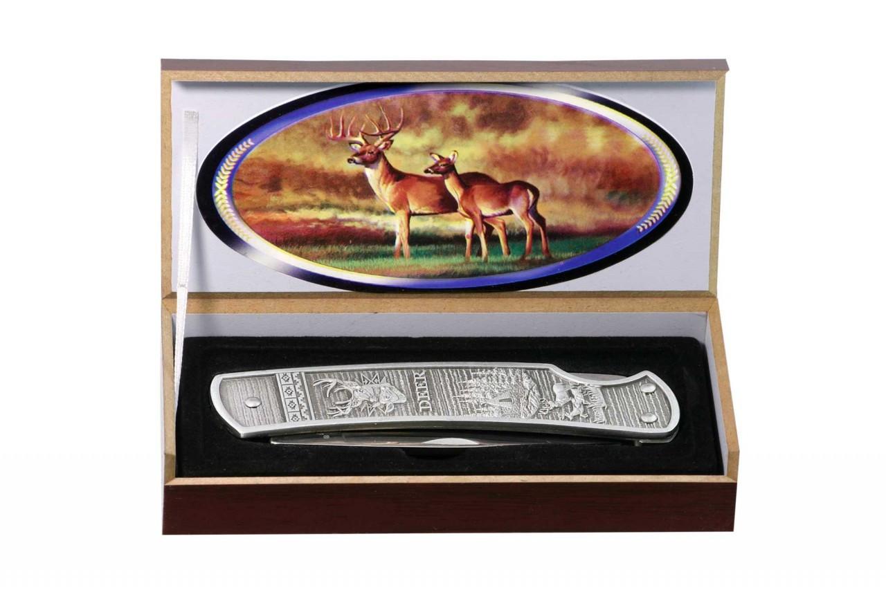 Нож складной Охотник подарочный, доступная цена, надежность, прочность и неприхотливость