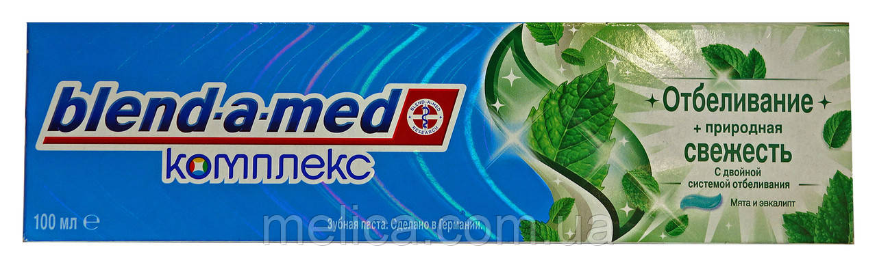 Зубная паста Blend-a-med Комплекс Отбеливание Природная свежесть Мята и Эвкалипт - 100 мл.