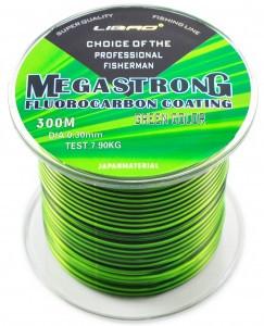 Леска с флюрокарбоновым покрытием Megastrong, длинна 1000 метров, толщина 0,25