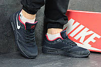 Кроссовки мужские Nike Air Max (синие с красным), ТОП-реплика, фото 1