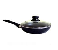 Сковорода 22 см. классическая с антипригарным покрытием с крышкой