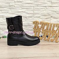 Ботинки кожаные женские зимние на утолщенной подошве 0d8024b45c2b7