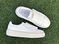 Женские кроссовки Puma Basket Platform White