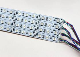 Светодиодная лента Premium SMD 5050/72 12V RGB IP20 (1м) на алюминиевой подложке Код.57550