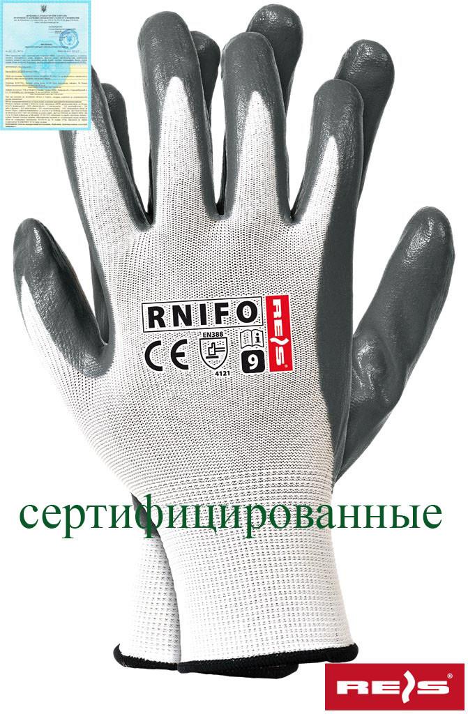 Защитные перчатки из нейлона с нитриловым покрытием RNIFO WS