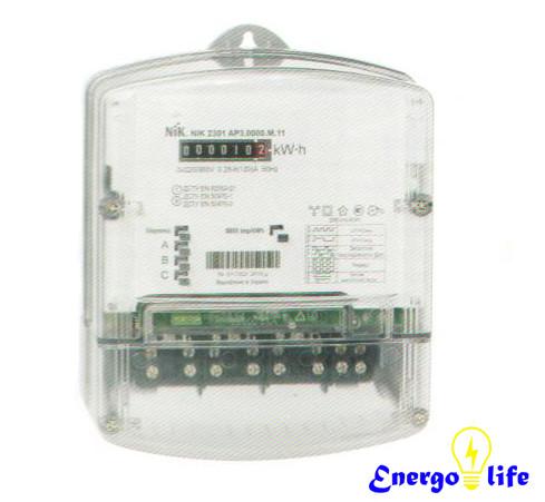 Счетчик электроэнергии NIK 2301 AT.0500.M.11, для измерения электрической активной энергии