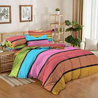 Постельное белье с полосами Colors of home (сатин, 100% хлопок)