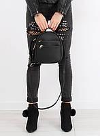 Черная женская сумка-рюкзак