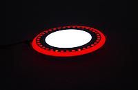 """LED панель Lemanso """"ТLED панель Lemanso """"Точечки"""" LM542 круг  6+3W красная подсв.  540Lm 4500K 85-265V, фото 1"""