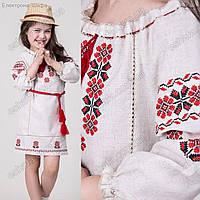 Платье вышитое крестиком для девочки ''Арина''