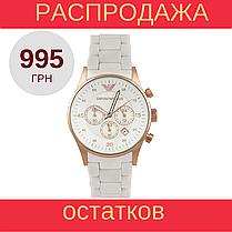 Мужские стильные часы Armani AR5919 White реплика, фото 2