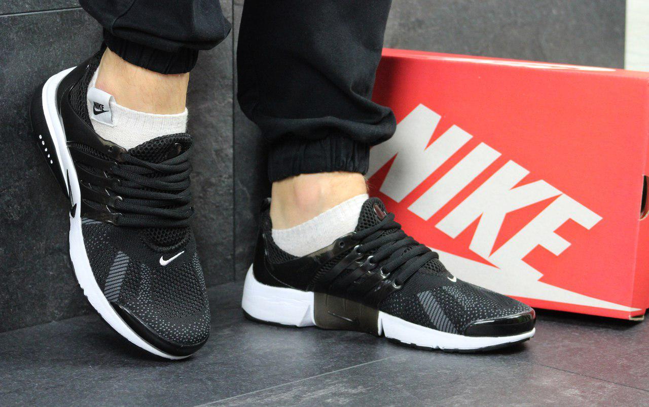 Кроссовки мужские Nike Air Presto  (черно-белые), ТОП-реплика