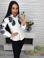 Стильная котоновая блузка с оригинальной вышивкой