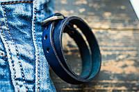Браслет кожаный мужской mod.Manacle синий, фото 1