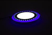 """LED панель Lemanso """"Точечки"""" LM557 круг 18+6W синяя подсв. 1440Lm 4500K 85-265V, фото 1"""