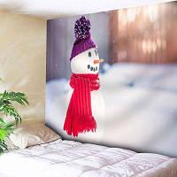 Настенный Декор Снеговик Печать Гобелен Спальня ширина79дюймов*длина59дюймов