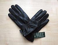 Перчатки мужские кожаные, зимние, утеплённые