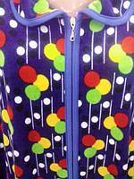 Халаты велюровые больших размеров c воротником.