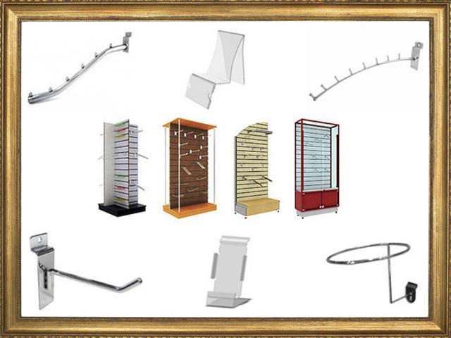 Эконом-панели и их комплектующие, стенды, стелажи, витрины