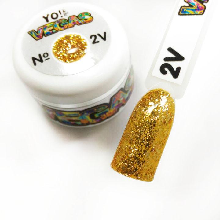 Ультраблестящий гель-лак VEGAS от Yo!Nails, цвет V2