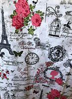 Комплект качественного постельного белья из бязи Gold, весенний Париж