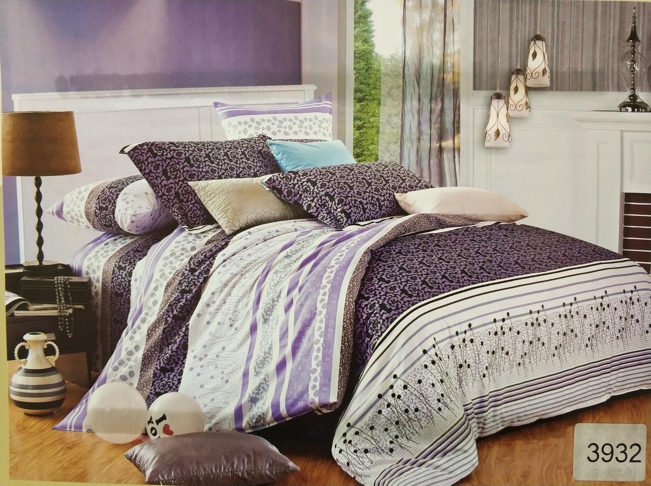 Сатиновое постельное белье семейное ELWAY 3932