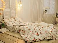 Комплект постельного белья   Прованс Двуспальный 180х215 на белом Наволочки 2 х 50х70