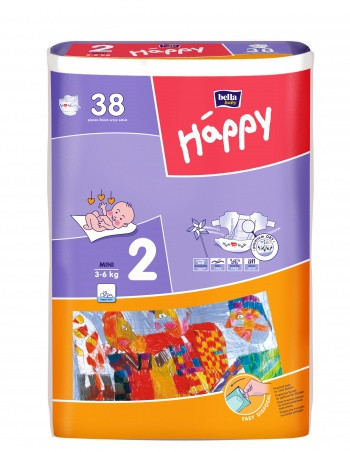 Підгузки Bella Happy Mini 2, 3-6кг (38шт.)