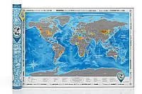 Скретч-карта мира Discovery Map (Укр)