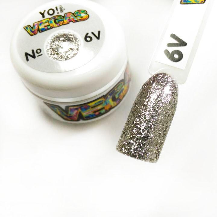 Ультраблестящий гель-лак VEGAS от Yo!Nails, цвет V6