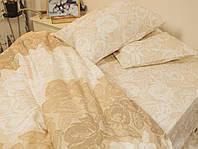 Комплект постельного белья So Good Ранфорс Кружево Евро 200х220 Бежевый Наволочки 2 х 50х70  (3471011)