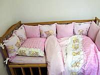 Комплект постельного белья   Сладкий сон 110х147 Розовый Бортики-Подушечки