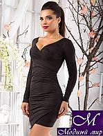 Женское черное коктельное платье (р. 42, 44, 46) арт. 10352