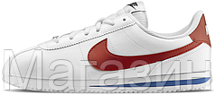 Женские кроссовки Nike Classic Cortez Leather White Найк Кортес белые