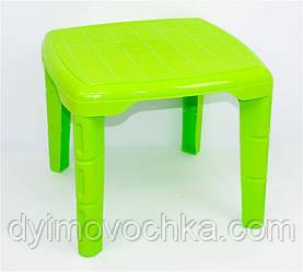 """Стол детский квадратный, цвет салатовый """"K-PLAST"""""""