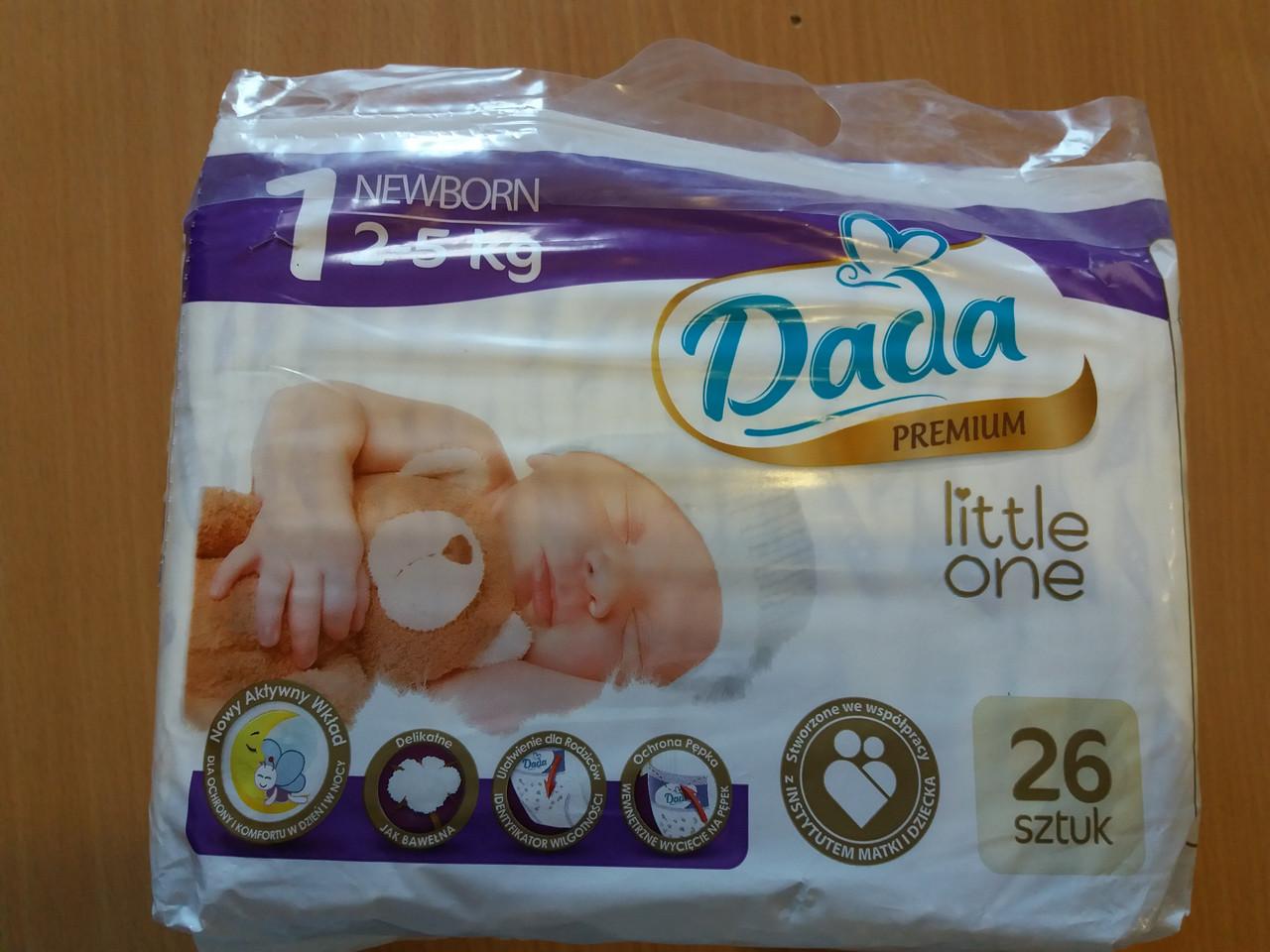 Подгузники Dada Little One 1 Newborn 2-5 кг 26 шт