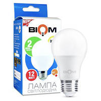 Лампа светодиодная A60 12W E27 3000К Biom