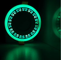 "LED панель Lemanso ""Грек"" LM533 круг  3+3W зелёная подсв. 350Lm 4500K 85-265V, фото 1"
