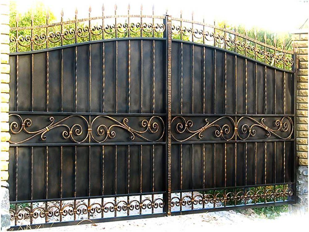 Кованые ворота метал 2 мм