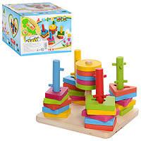 "Деревянная игрушка ""Пирамидка-ключ"", MD0061"
