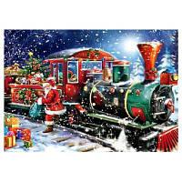Сделай сам Алмаз Живопись Рождественский поезд крест стежка комплект 40 x 30 см Цветной