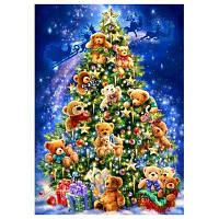 DIY Алмаз Живопись Рождественская Елка крестом комплект 30 x 40 см Цветной